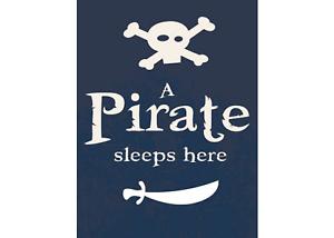 Enseigne de porte enfant Pirate