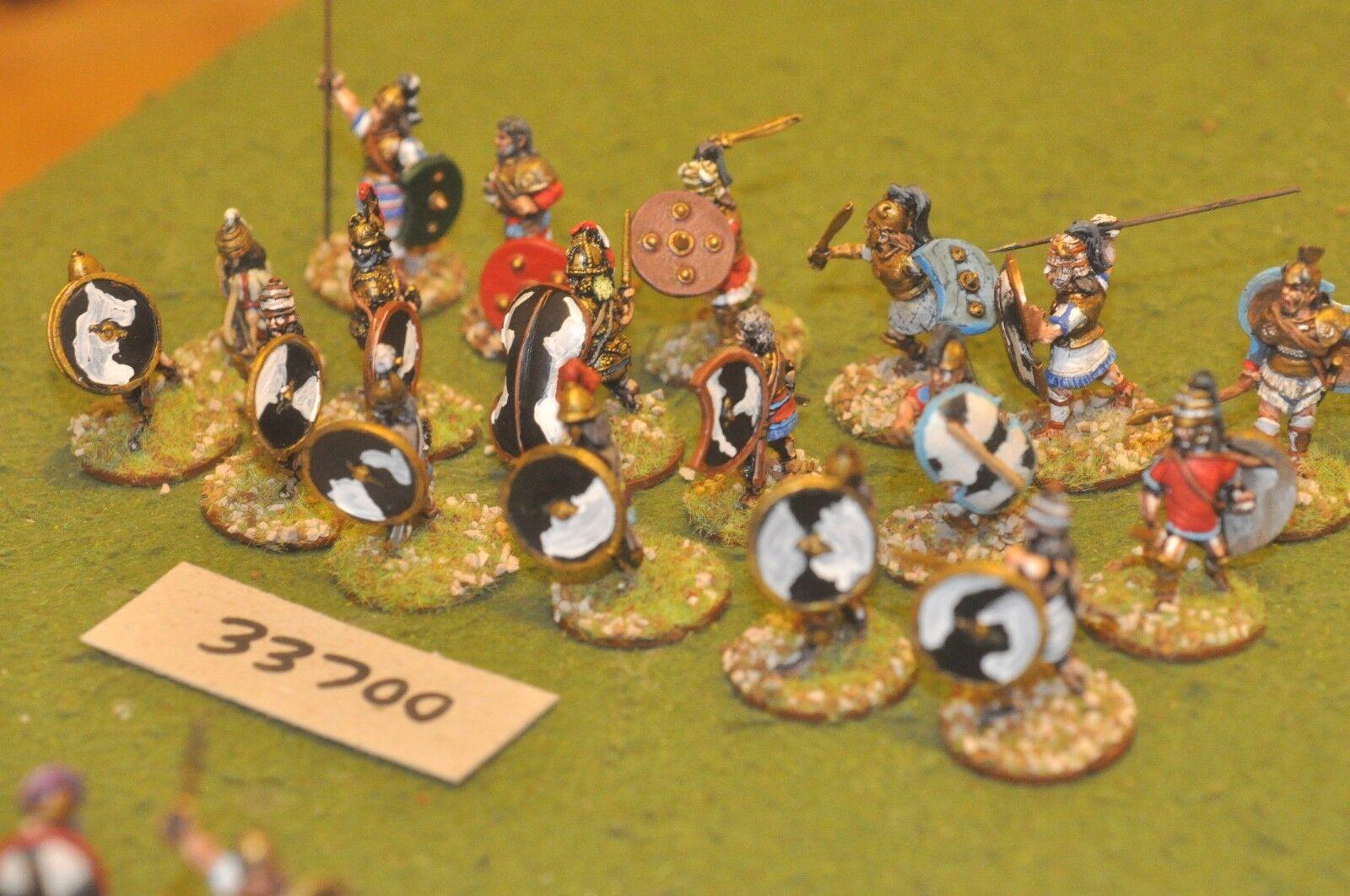 25mm biblical   mycean - warriors 18 figures - inf (33700)