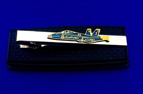 US Navy Tie Clip Blue Angels Tie Bar Military Jet Tie Clasp Gift Idea