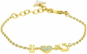 GUESS-Schmuckstuecke-Armband-Golden-mit-Herz-Und-Swarowsky-UBB61096S-Neu