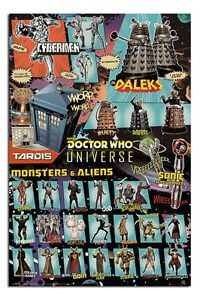 Doctor-Who-Characters-Poster-New-Maxi-Size-36-x-24-Inch