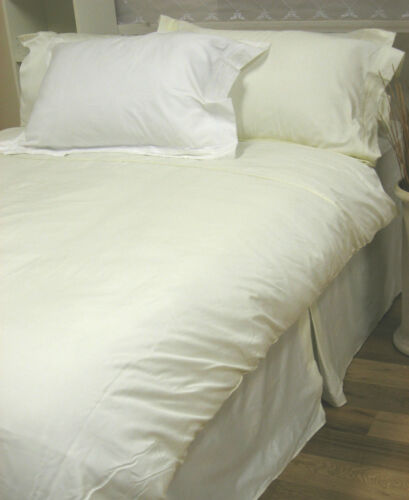 ONE PAIR HOUSE WIFE PILLOWCASES WHITE LUXURY COMBED PIMA COTTON 400 THREAD COUNT