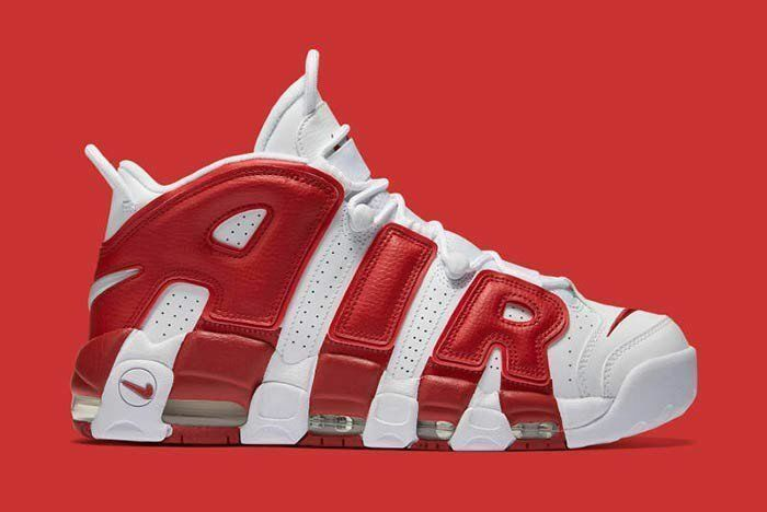 2016 Nike Air More Uptempo Gym Red OG Size 11.5. 414962-100 Jordan Pippen Kobe