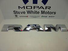 15-17 Dodge Ram 1500 Tailgate Large R A M Emblem Letters Set Chrome Mopar OEM