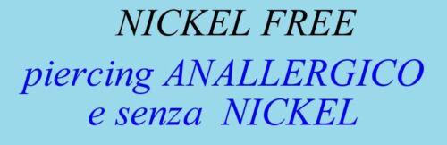Piercing BIOFLEX LABRET TRAGO DIAMANTE kt 0,015 oro BIANCO 18kt white GOLD