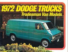 1972 Dodge Tradesman Van B100 B200 B300 Dealer Sales Brochure