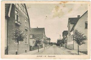 Ansichtskarte Bünde/Westfalen - Blick in die Gasstrasse mit Häusern - um 1910
