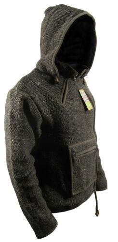 Sheep Wool Hippie Boho Winter Side Zip Woollen Hand Knitted Nepalese Jacket