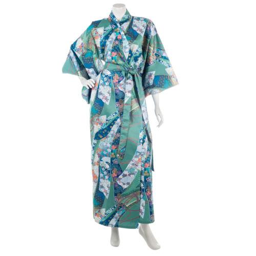 de algodón Yukata verde japonés larga Cinta qYt6xAg