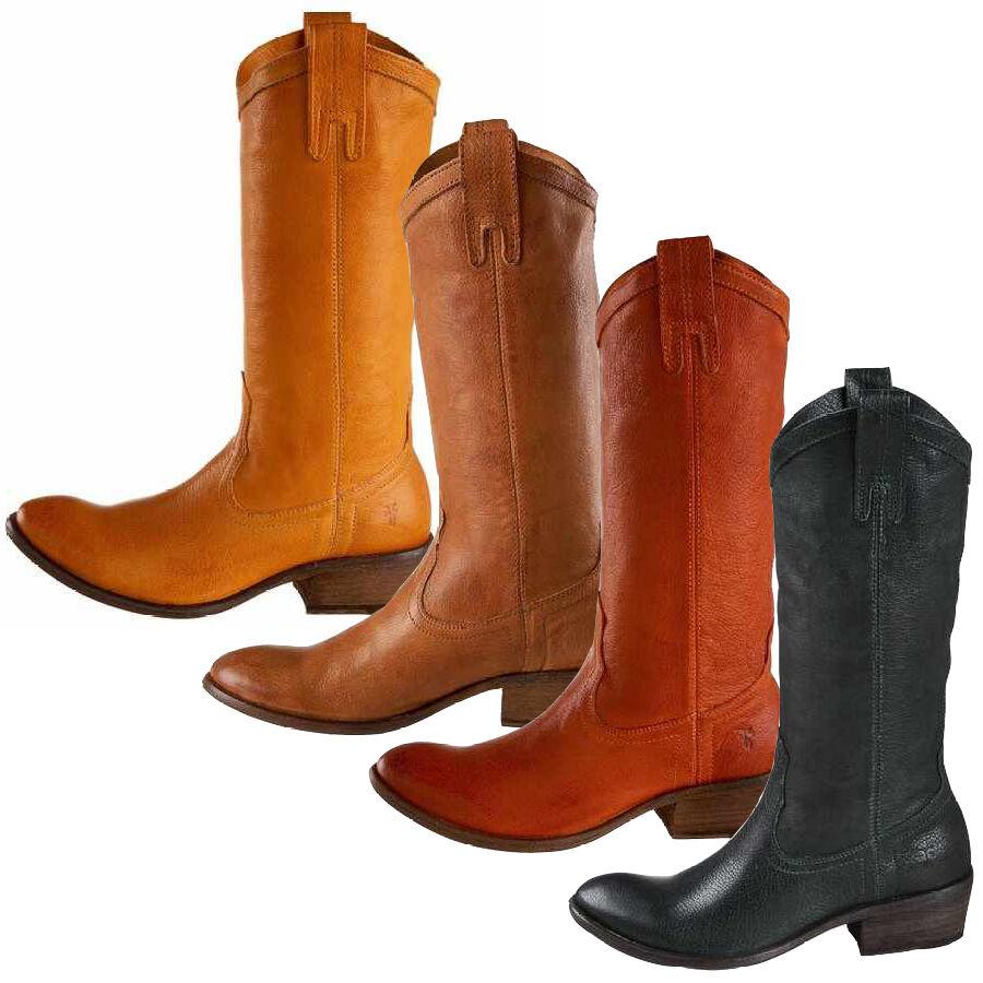 Frye botas W Carson pull on zapatos botas señora botas de vaquero de cuero nuevo