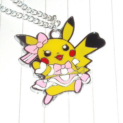 POKEMON CHARACTER NECKLACE pokeball BFF pikachu kawaii go eevee vaporeon raichu