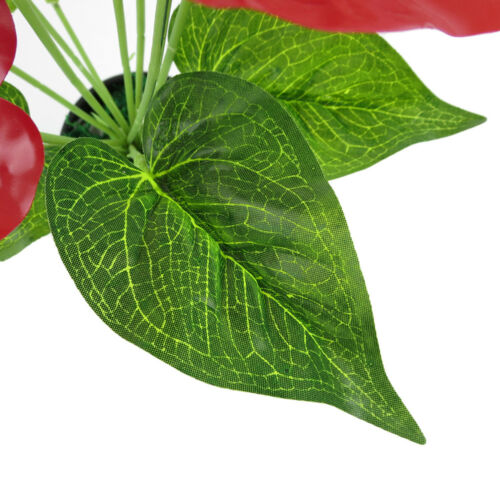 LK/_ 1 Pc Artificial Plants Red Anthurium Fake Flowers Lifelike Decoration Late
