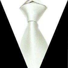 D.berite Men's White 100% silk Groom wedding Party Handmade Neck Tie Necktie S16