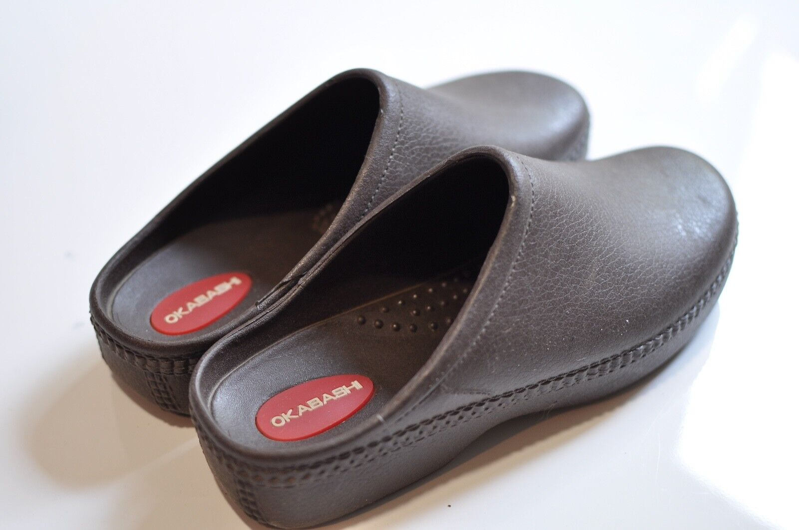 Okabashi Womens small brown slip on clog sandals size Small made in USA