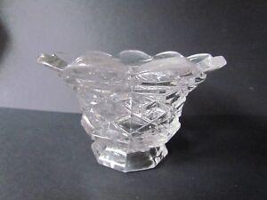 GEORGE-SHERWOOD-amp-CO-ECCLESTON-FLINT-ANTIQUE-PRESSED-GLASS-VASE-1850-Ref2872