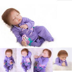 "22""New Handmade Lifelike Reborn Baby Girl Doll Silicone Vinyl Newborn Dolls Toy"
