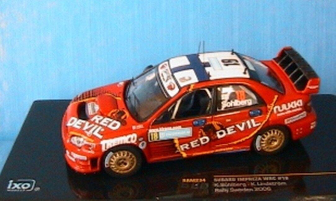 SUBARU IMPREZA WRC  18 SOHLBERG LINDSTROM rouge DEVIL 1 43 IXO RAM234 RALLY SWEDEN