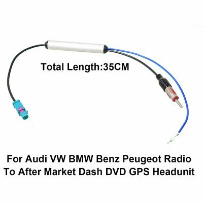 CAR Auto RADIO ANTENNA ADAPTER Booster Cable VW BMW Audi Skoda FAKRA to ISO DIN
