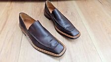 DESIGNER ITALIAN LEATHER SLIP-ON SHOES == UK 8 == EUR 42 == HEAVY,TOP QUALITY ==