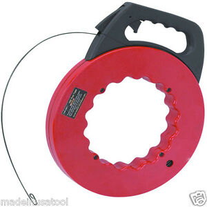100 FOOT ELECTRICIAN FISHTAPE FISH FISHING ELECTRIC WIRE AND CABLE PULLER TOOL