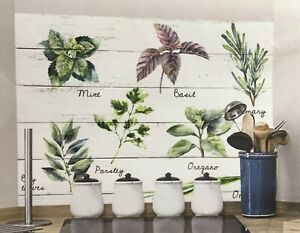 Details zu Wandsticker Wandschutz Klebefolie Aufkleber Spritzschutz Küche  Kräuter Shabby