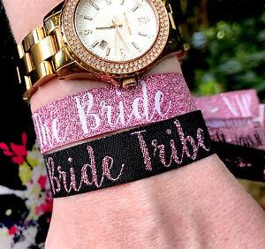 """Mariée Tribu """"or Rose"""" Hen Party Bracelets ~ Bracelets Accessoires-bracelet-afficher Le Titre D'origine Marchandises De Proximité"""
