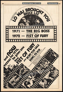 NEW-FIST-OF-FURY-Original-1976-Trade-AD-poster-WEI-LO-JACKIE-CHAN-BRUCE-LEE