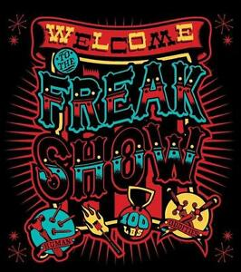 Image Is Loading Gothic Sourpuss Welcome To The Freak Show Bathroom