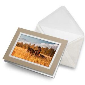 Greetings-Card-Biege-Western-Cowboy-Horse-America-Wild-West-24419