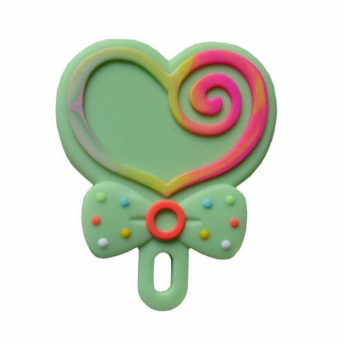 84x69x10mm -Green Chewable Teething Toy Baby Toddler Silicone Lollipop Teether