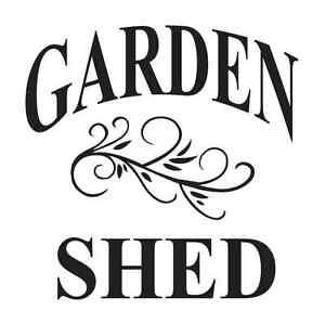 Image Is Loading Garden STENCIL GARDEN SHED For Primitive Vintage Shabby