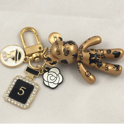 Art peace black bear 01 Luxury air-pod charm key chain bag charm