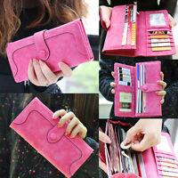 Hot Sale Fashion Retro Matte Stitching Lady Women Wallet Long Card Holder Purse
