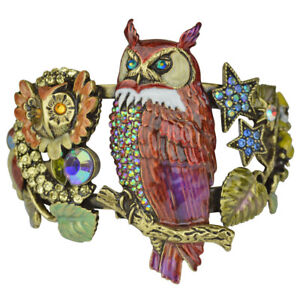 Kirks-Folly-Owl-Of-Wisdom-Cuff-Bracelet-Brasstone-with-Free-Shipping