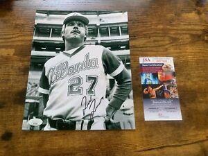 8x10 MLB Photo Autographed by Ted Turner Atlanta Braves JSA COA #HH75691 B&W