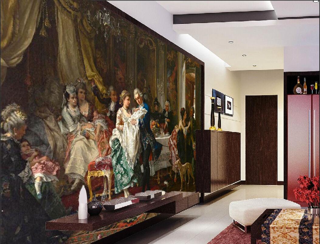 3D Beau Danse 16 Photo Papier Peint en Autocollant Murale Plafond Chambre Art