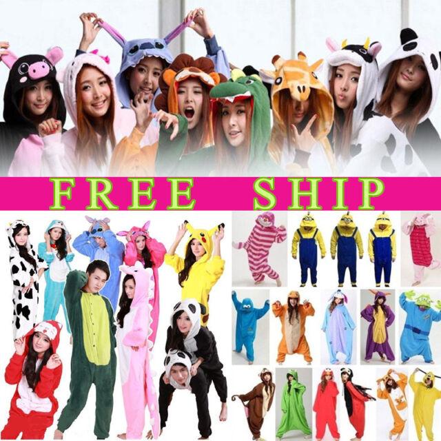 Adult Unisex Onesie Animal Onsie Pajamas Sleepwear Kigurumi All in One Costume ~