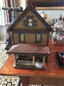 Details About Early 1900 Wooden Vintage Salesman Sample House Model