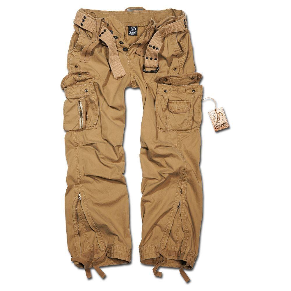 Brandit Hose Royal Vintage Trousers Baggy Herrenhose 100% Baumwolle beige