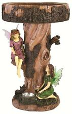 Garden Fairy Tree Birdbath Table Garden Bird Bath Feature with Solar Light - 195