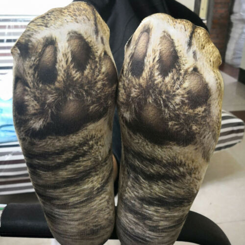 Funny Unisex Adult//Kids Elastic Sock Animal Paw Feet Crew 3D Print Foot Socks @Y