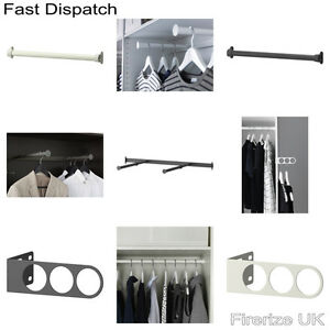 Details About Ikea Komplement Wardrobe Accessories Clothes Rail Pull Out Valet Hanger Hooks