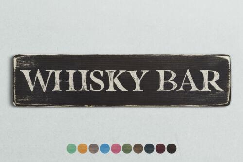 Signo de madera Whisky Bar Estilo Vintage Shabby Chic Retro Hogar Regalo.