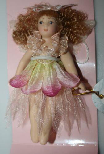 "Delton Petite Porcelain 4/"" Pink//yellow FAIRY DOLL ORNAMENT  Full Body   NIB Bin2"