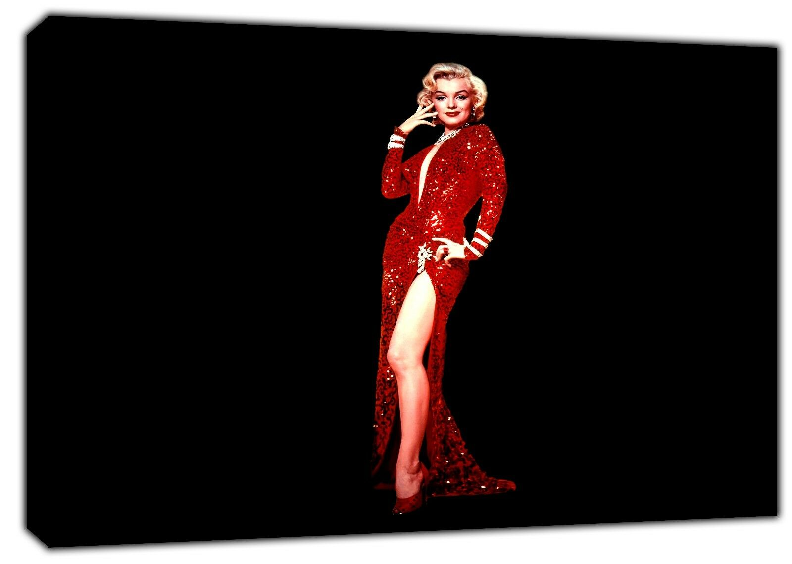 Marilyn Monroe en rojo vestido de impresión impresión impresión de foto lienzo enmarcado en Decoración de parojo Arte 7afb1e
