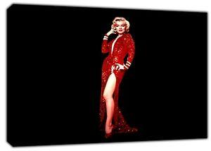 Actif Marilyn Monroe En Robe Rouge Photo Imprimé Sur Encadrée Toile Wall Art Decor-afficher Le Titre D'origine Des Biens De Chaque Description Sont Disponibles