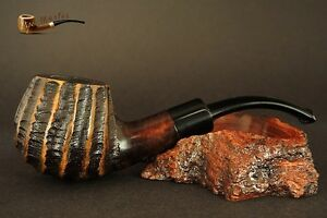 HAND-MADE-UNIQUE-WOODEN-SMOKING-PIPE-for-TOBACCO-no-34-Rustic-PEAR-BOX