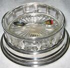 *VINTAGE* Depression Glass Bowl with a Paramont Silver Plate Base / FREE SPOON