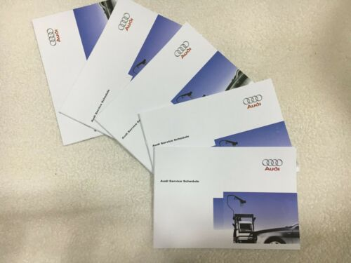 Genuine Audi servizio libro di storia non Nuovo di Zecca duplica tutti i modelli coperto