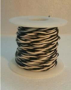 22 awg ul1007 ul1569 hook up wire black white twisted pair 50 image is loading 22 awg ul1007 ul1569 hook up wire black keyboard keysfo Image collections